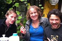 With Istari Lasterfahrer and Selektor Depender in my Amsterdam garden, NL, 19th October 2012